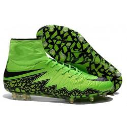 Nike HyperVenom Phantom 2 FG Chaussures de football Vert Noir