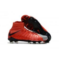 Nike Chaussure Hypervenom Phantom 3 DF FG ACC - Rouge Gris