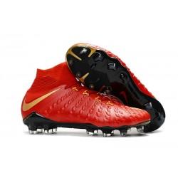 Nike Chaussure Hypervenom Phantom 3 DF FG ACC Rouge Or
