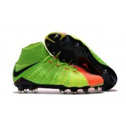 Nike Chaussure Hypervenom Phantom 3 DF FG ACC - Vert Orange Noir