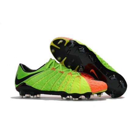 Chaussure de Foot 2017 Nike Hypervenom Phantom 3 FG Radiation Flare - Vert/Noir/Orange
