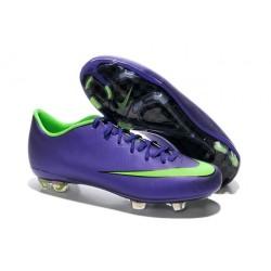 Chaussure de Football Hommes Nike Mercurial Vapor 10 FG Violet Vert