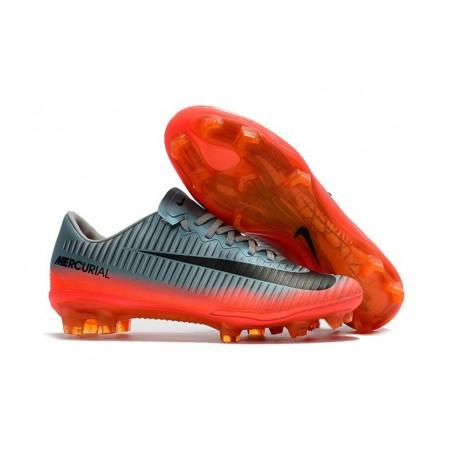 Nike Mercurial Vapor XI FG 2017 Crampon de Foot Gris Orange