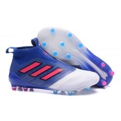 adidas Ace 17+ Purecontrol FG Crampons de Football - Bleu Blanc Rouge