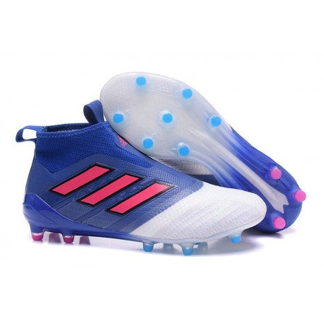 adidas Ace 17+ Purecontrol FG Crampons de Football Bleu Blanc Rouge