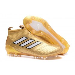 adidas Ace 17+ Purecontrol FG Crampons de Football - Or Blanche