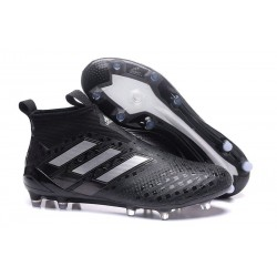 adidas Ace 17+ Purecontrol FG Crampons de Football - Noir Argent