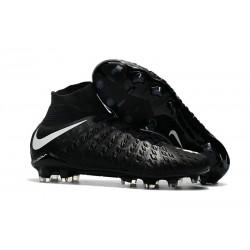 Crampons de Football Nouveaux 2017 Nike Hypervenom Phantom III DF FG - Noir Blanc