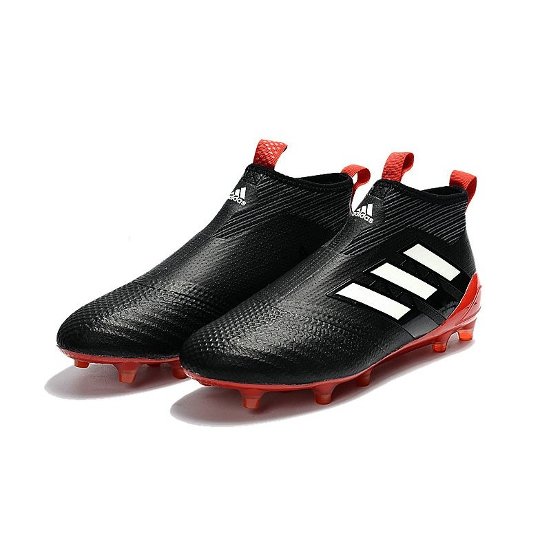 chaussures homme nouveaux 2017 adidas ace 17 purecontrol fg noir blanc rouge. Black Bedroom Furniture Sets. Home Design Ideas