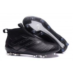 Chaussures Homme Nouveaux 2017 adidas Ace 17+ Purecontrol FG - Tout Noir