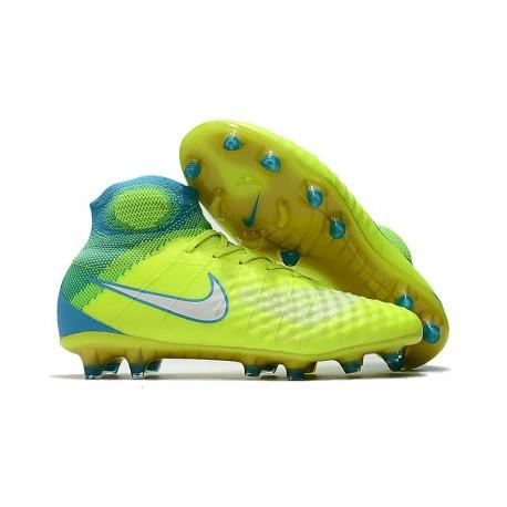 Nouvelles - Chaussures Foot Nike Magista Obra II FG Volt Bleu