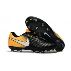 Nike Crampon de Foot Tiempo Legend 7 FG ACC Noir Jaune Blanc