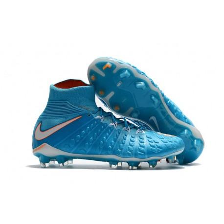 Crampons de Football Nouveaux 2017 Nike Hypervenom Phantom III DF FG - Bleu Blanc