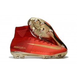 Nike Mercurial Superfly V FG ACC Chaussure de Football Rouge Or