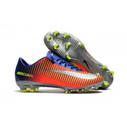 Nike Mercurial Vapor XI FG 2017 Crampon de Foot Bleu Royal Chrome Carmin