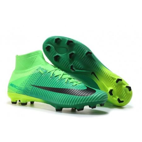 super specials various design many styles Nike Mercurial Superfly V FG ACC Chaussure de Football Noir Vert
