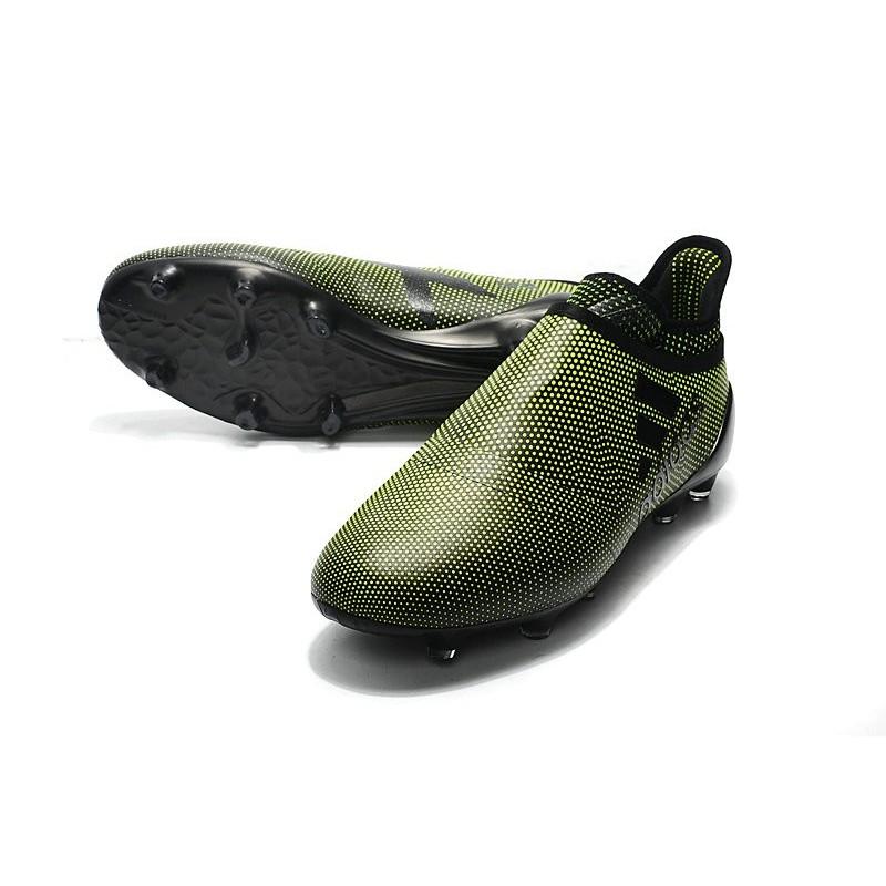 Crampons de Vert Foot adidas X 17+ Purespeed FG Vert de Foncé Noir 304b9d