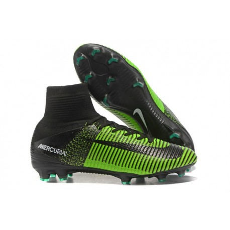 shop best sellers latest design differently Nike Mercurial Superfly V FG ACC Chaussure de Football Vert Noir