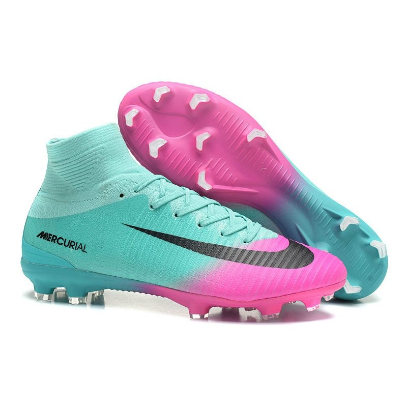 Superfly Acc Mercurial Noir Football Chaussure Rose Nike Fg V Bleu De mNn80w
