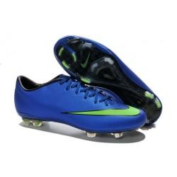 Nouvelle Chaussure de Football Nike Mercurial Vapor X FG Bleu Vert