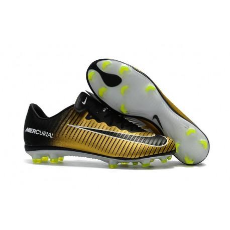 Nike Mercurial Vapor XI FG 2017 Crampon de Foot Or Noir Blanc