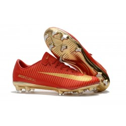 Nike Mercurial Vapor XI FG 2017 Crampon de Foot CR7 Or Rouge