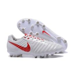 Nike Crampon de Foot Tiempo Legend 7 FG ACC Blanc Rouge