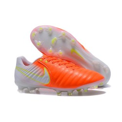 Nike Crampon de Foot Tiempo Legend 7 FG ACC Orange Blanc