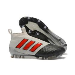 Adidas Ace 17+ Purecontrol FG Crampons de Football - Gris Rouge Noir