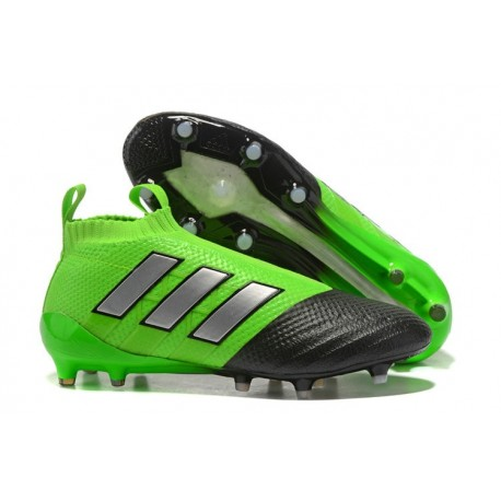 Adidas Ace 17+ Purecontrol FG Crampons de Football - Vert Noir Argenté