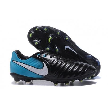 Nike Crampon de Foot Tiempo Legend 7 FG ACC Noir Blanc Bleu