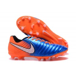 Nike Crampon de Foot Tiempo Legend 7 FG ACC Bleu Orange