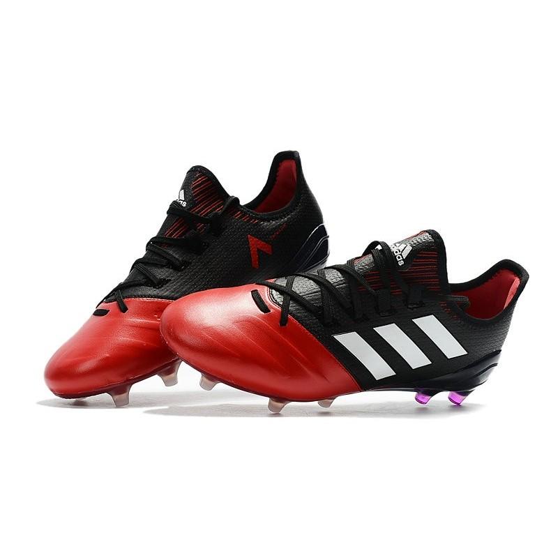 d6b2f96e81 Chaussure Adidas - Crampons de Football Ace 17.1 FG Noir Rouge Blanc