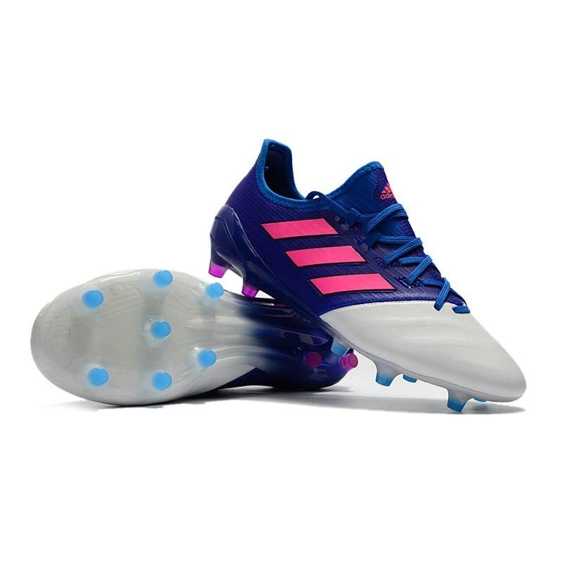 Chaussure Adidas - Crampons de Football Ace 17.1 FG Bleu Rose Blanc ed479187262b