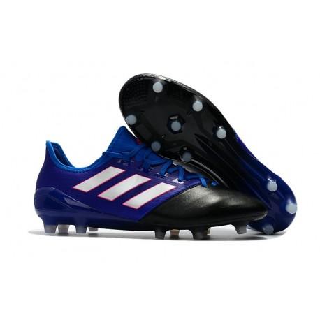 Chaussure Adidas - Crampons de Football Ace 17.1 FG Noir Blanc Bleu