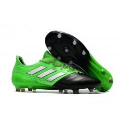 Chaussure Adidas - Crampons de Football Ace 17.1 FG Vert Solaire Blanc Noir