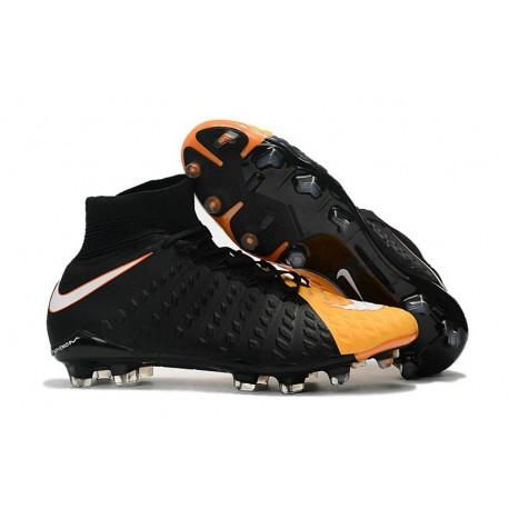 Crampons de Football Nouveaux 2017 Nike Hypervenom Phantom III DF FG - Orange Laser Blanc Volt