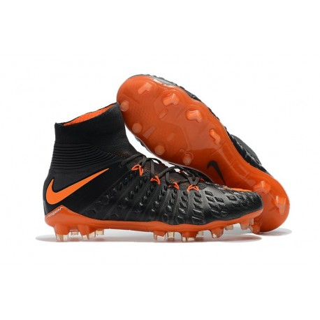 Crampons de Football Nouveaux 2017 Nike Hypervenom Phantom III DF FG - Orange Noir