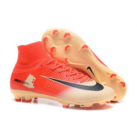 Nike Fg Chaussure Noir Acc Or De Football Rouge Mercurial Superfly V 5LcjqSR34A