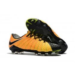 Chaussures de Football pour Hommes - Nike Hypervenom Phantom 3 FG Jaune Noir