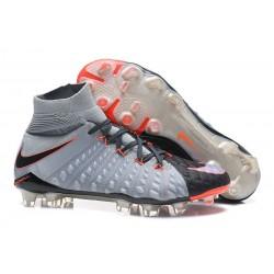 Crampons de Football Nike Hypervenom Phantom III DF FG - pour Hommes Gris Noir Orange