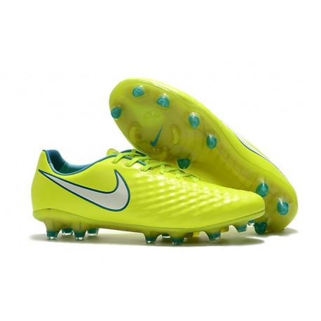 Nouveau Chaussure de Football Nike Magista Opus II FG Hommes Volt Blanc