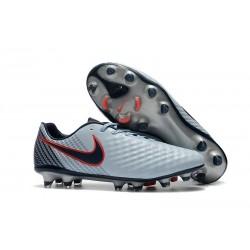 Neuf Crampon de Football Nike Magista Opus II FG pour Hommes Gris Noir Rouge