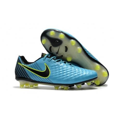 Neuf Crampon de Football Nike Magista Opus II FG pour Hommes Bleu Volt Noir