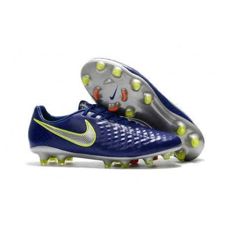 Nouvelles Nike - Crampons Nike Magista Opus II FG Bleu Volt Argent