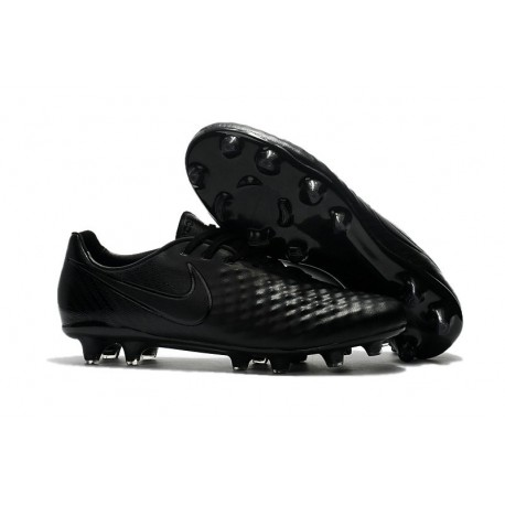 Nouveau Chaussure de Football Nike Magista Opus II FG Hommes Tout Noir