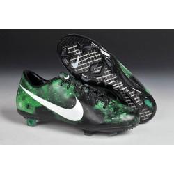2015 Crampons Hommes Nike Mercurial Vapor 9 FG Galaxie Vert Noir Blanc