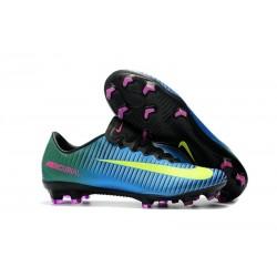Nike Mercurial Vapor XI FG 2017 Crampon de Foot Bleu Volt Rose