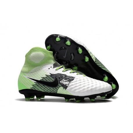 Nike Magista Obra 2 FG 2017 Crampon de Football Blanc Vert Noir