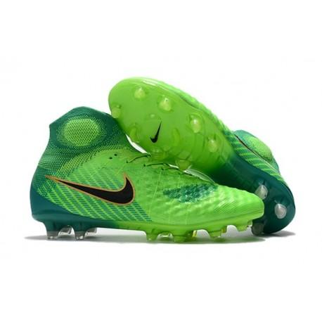Nike Magista Obra 2 FG 2017 Crampon de Football Vert Noir